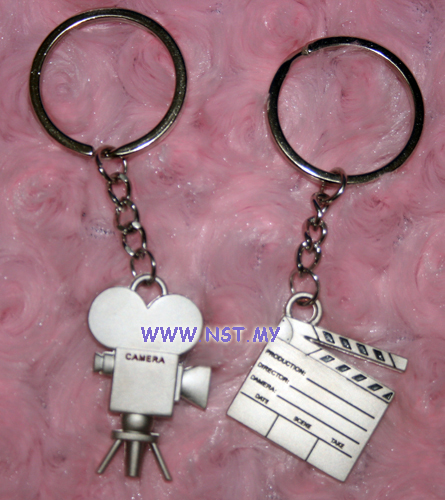 Movie Equipment couple keychain